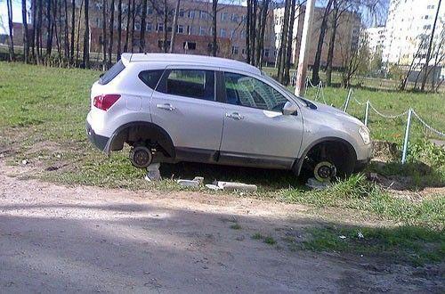 Следите за колесами