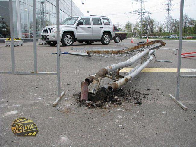 Авария нового кадиллака